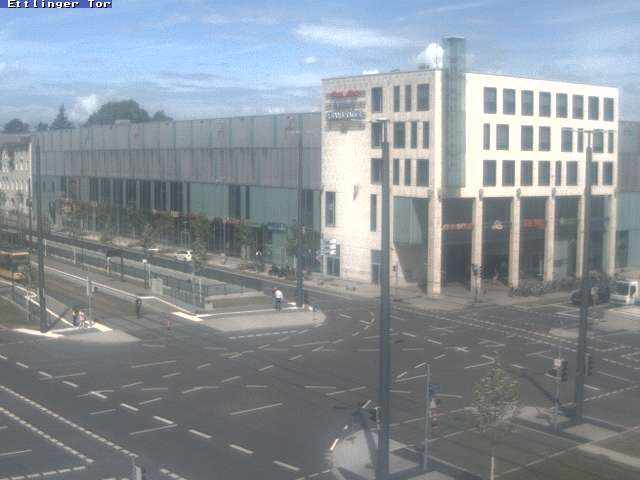 Webcam Ettlinger Tor Karlsruhe