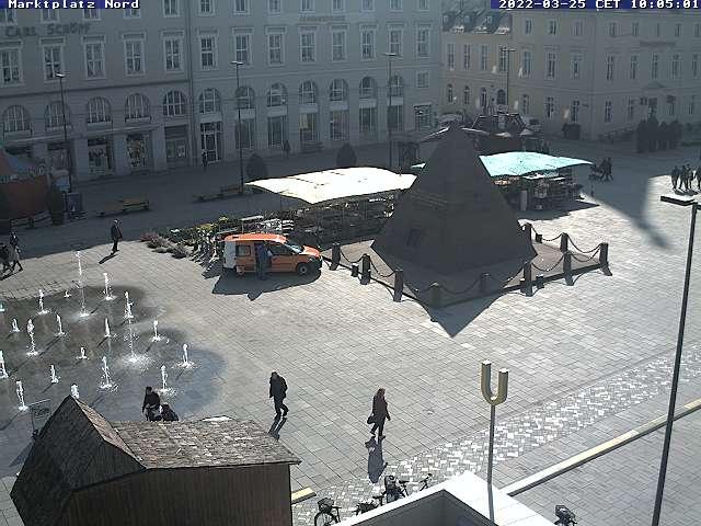 Karlsruhe City Center, Marktplatz with Pyramide